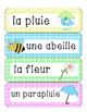 Le printemps - mots étiquettes (28 mots)