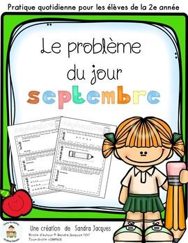 Le problème du jour – 2e année/ Problem of the Day Gr.2 in French
