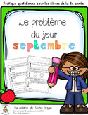 Le problème du jour – 4e année/ Problem of the Day Gr.4 in French