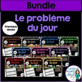 Le problème du jour: First Grade French Math Word Problem of the Day  BUNDLE