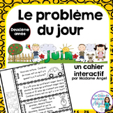 Le problème du jour: Second Grade French Math Word Problem of the Day (June)