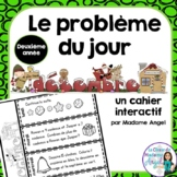 Le problème du jour: Second Grade French Math Word Problem of the day (December)
