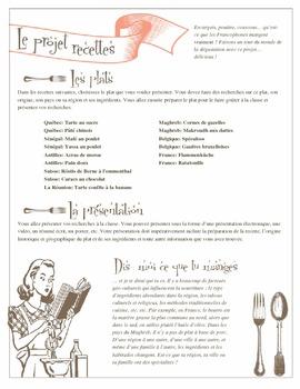 Le projet recettes