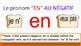 "Le pronom ""en"" PowerPoint with Notes"