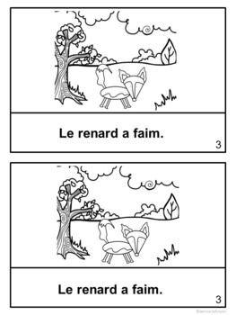 Le renard et le corbeau ~ French Crow & the Fox Fable Reader ~ Simplified