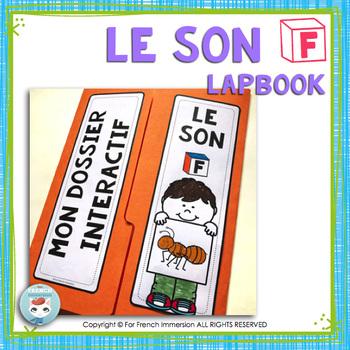 Le son F | La lettre F | French Phonics Lapbook
