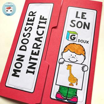 Le son G doux | La lettre G | French Phonics Lapbook