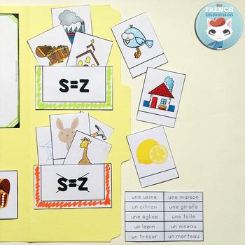 Le son Z   la lettre S - French Phonics Lapbook