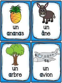 """Le son """"a"""" - 40 cartes de vocabulaire - French Sounds"""