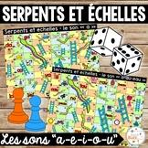 Les sons a-e-i-o-u - Serpents et échelles - Ensemble - Bundle