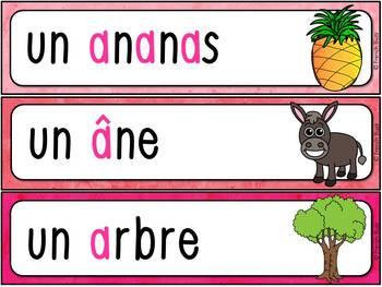 """Le son """"a"""" - mur de mots et lexique"""