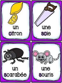 """Le son """"ç-ss-s-x-t"""" - 40 cartes de vocabulaire - French Sounds"""