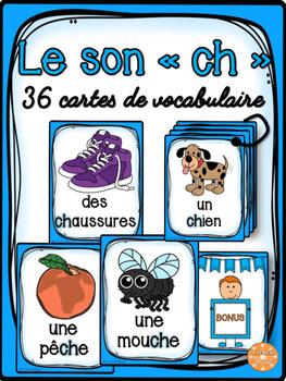 """Le son """"ch"""" - 36 cartes de vocabulaire - French Sounds"""