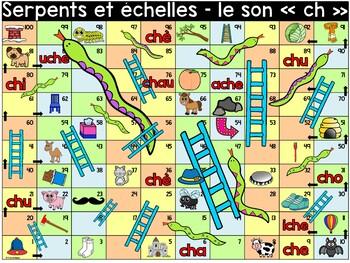 """Le son """"ch"""" - Serpents et échelles"""