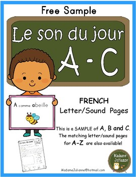 Le son du jour - SAMPLE (French alphabet letter sound pages)