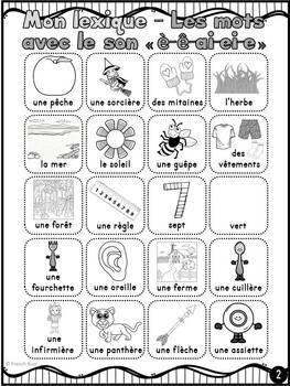 """Le son """"è"""", """"ê"""", """"ai"""", """"ei"""", """"e"""" - mur de mots et lexique"""