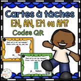 Le son en-an-em-am - Cartes à tâches - Codes QR - French Sounds Task Cards