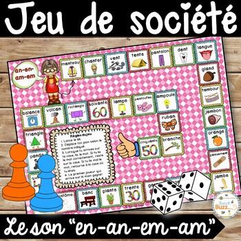 """Le son """"en"""" (""""em"""", """"an"""", """"am"""") - jeu de société"""