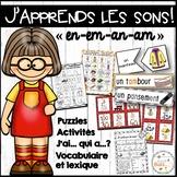 """Le son """"en"""", """"em"""", """"an"""", """"am"""" - jeux et activités - Bundle"""