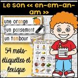 """Le son """"en"""", """"em"""", """"an"""", """"am"""" - mur de mots et lexique"""