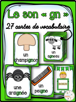 """Le son """"gn"""" - 27 cartes de vocabulaire - French Sounds"""