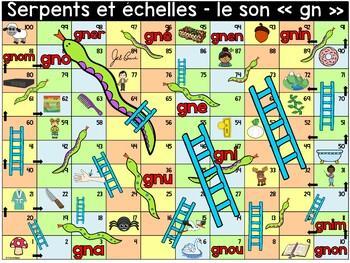 """Le son """"gn"""" - Serpents et échelles"""