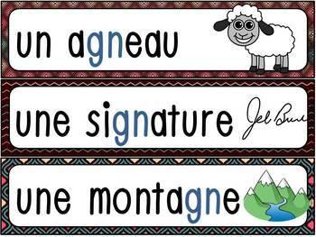 """Le son """"gn"""" - mur de mots et lexique"""