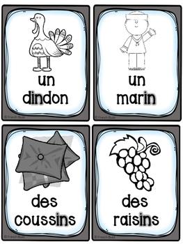 """Le son """"in, im, ain, aim, ein"""" - 40 cartes de vocabulaire - French Sounds"""