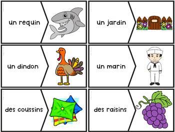 """Le son """"in"""", """"im"""", """"ain"""", """"aim"""", """"ein"""" - 42 puzzles"""