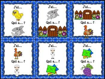 """Le son """"in"""", """"im"""", """"ain"""", """"aim"""", """"ein"""" - jeu """"j'ai... qui a...?"""""""