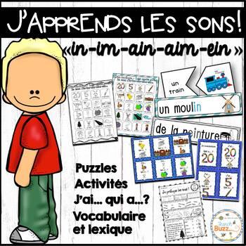 """Le son """"in"""", """"im"""", """"ain"""", """"aim"""", """"ein"""" - jeux et activités"""