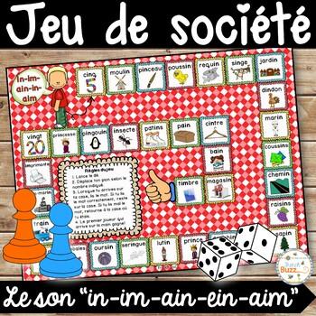 """Le son """"in"""" (""""im"""", """"ain"""", """"ein"""") - jeu de société"""