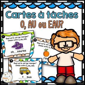 Le son o-au-eau - Cartes à tâches - French Sounds Task Cards