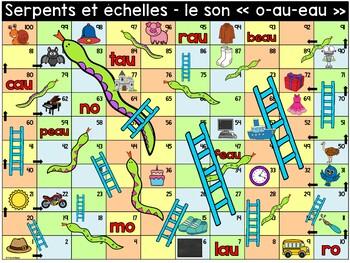 """Le son """"o"""", """"au"""", """"eau"""" - Serpents et échelles"""