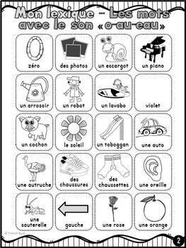 """Le son """"o-au-eau"""" - mur de mots et lexique"""