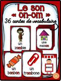 """Le son """"on"""", """"om"""" - 36 cartes de vocabulaire - French Sounds"""
