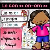 """Le son """"on"""", """"om"""" - mur de mots et lexique"""