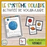 Le système solaire   Activités de vocabulaire   French Solar System Activity