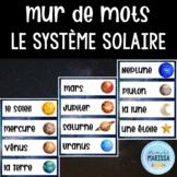Le système solaire: Mur de Mots Aquarelle/FRENCH Watercolo