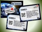 Le système solaire, série 1 (cartes à tâches) (Sciences) (codes QR)