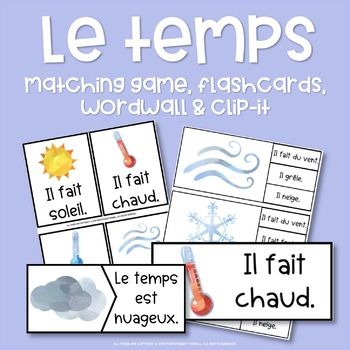 Le temps - French Weather Activities & Games Bundle