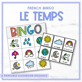 Le temps - French Weather Bingo