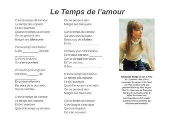 Le temps de l'amour - cloze listening