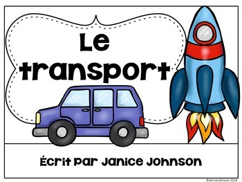 Le transport ~ French Transportation Reader plus BOOM paperless version