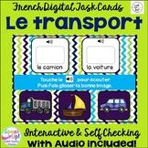 Le transport ~ French Transportation Vocabulary Digital BOOM Task Cards w/ Audio