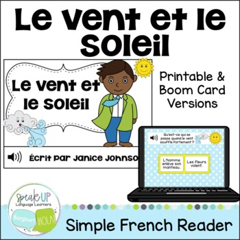 Le vent et le soleil ~ French Wind & the Sun Fable Reader ~Simplified