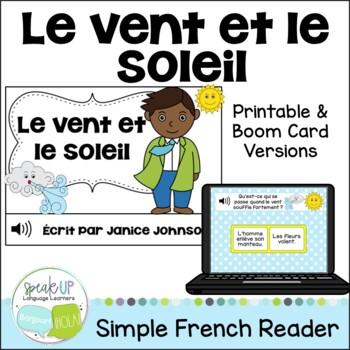 Le vent et le soleil ~ French Wind & the Sun Fable Reader