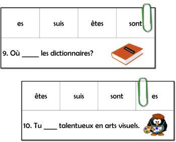 Le verbe ÊTRE - Jeu d'association- L'école