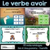 Le verbe avoir au présent - Avec et sans pronoms - Ensemble - BOOM Cards
