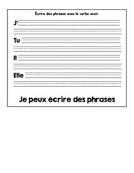 Le verbe avoir: flipbook